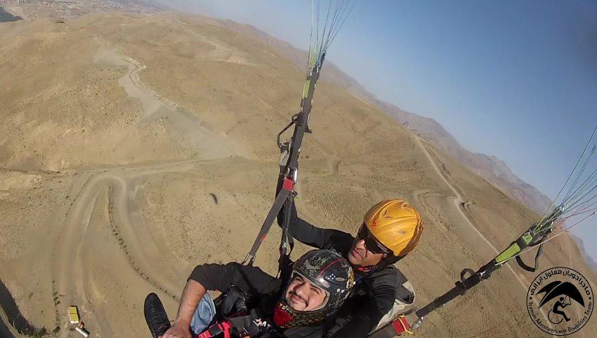 iranian adventurers with disabilitiesمانی رضایی-ماجراجویان معلول ایرانی
