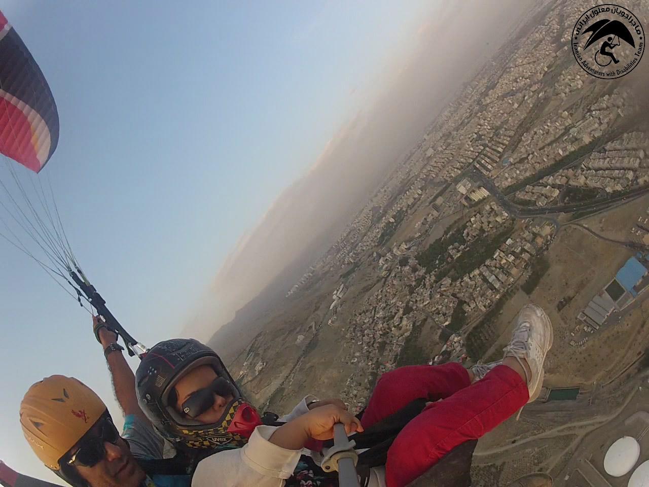 ماجراجویان معلول ایران - پرواز با پاراگلایدر
